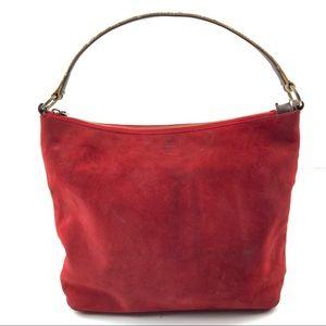 Kate Spade Red Suede Hobo Bag